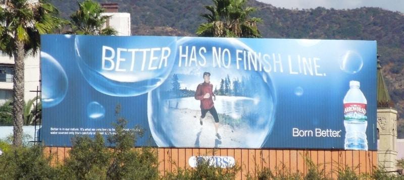 A jobbnak nincs célszalag (ásványvíz reklám)