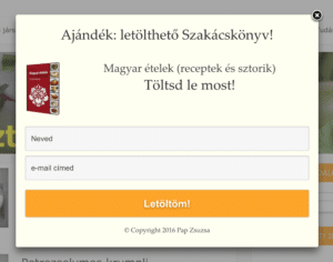 Ajándék: letölthető szakácskönyv